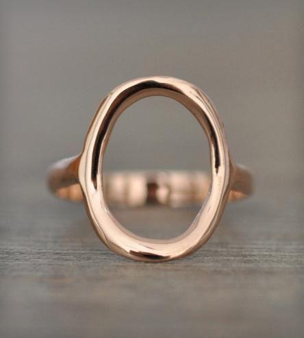 14k Gold Circle Ring.