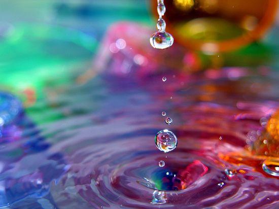 water drop + rainbow