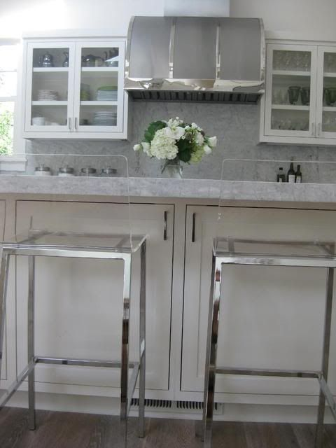 marble + lucite + vent hood