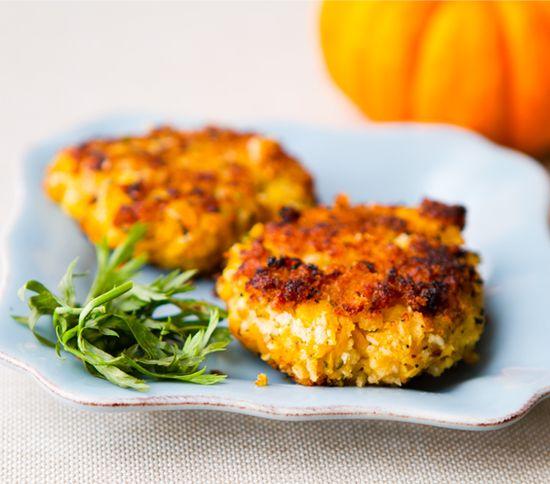 pumpkin garbanzo croquette