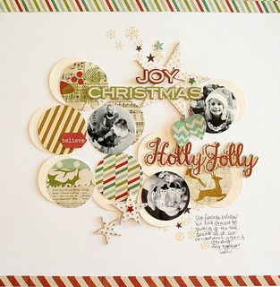 #papercraft #scrapbook #layout #Christmas    Joy of Christmas layout by Dani at @Studio_Calico