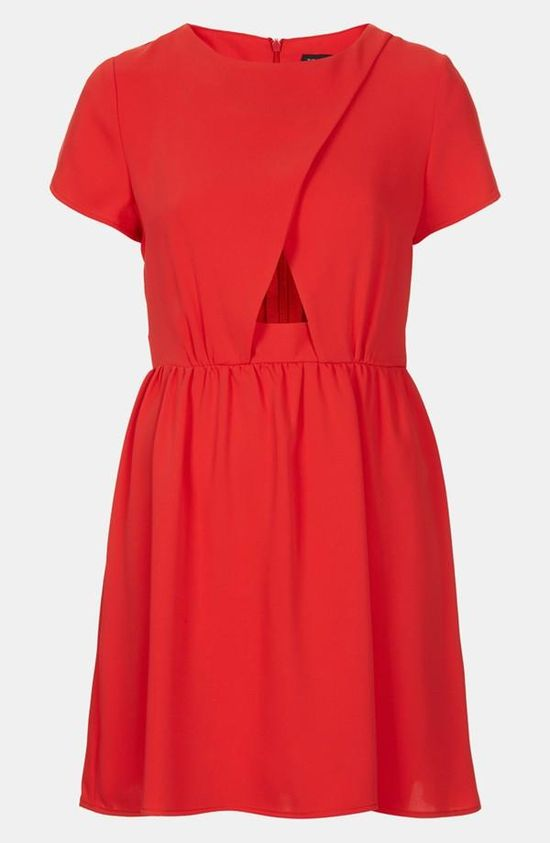 Little red dress.