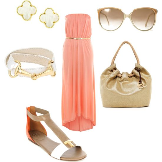 Maxi - Polyvore A fashion look from May 2012 featuring Miss Selfridge dresses, Tory Burch sandals and MICHAEL Michael Kors tote bags. Browse and shop related looks.