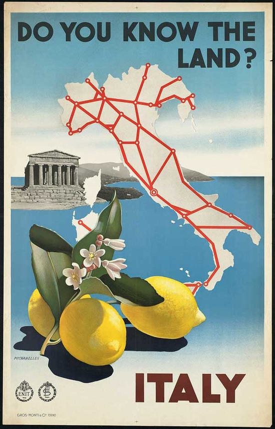 Travel Art Poster - Italy