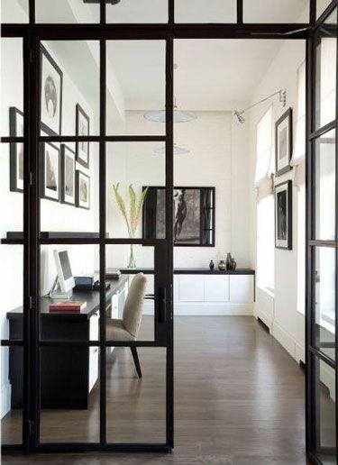 office, glass door