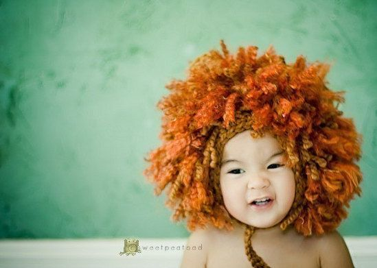 A lion hat = instant costume.