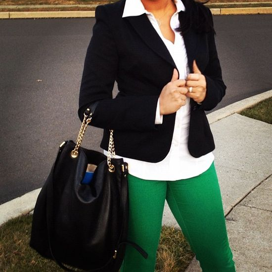 Fun twist on a basic work outfit