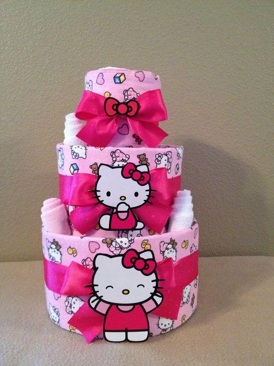 Hello Kitty Baby Girl Diaper Cake