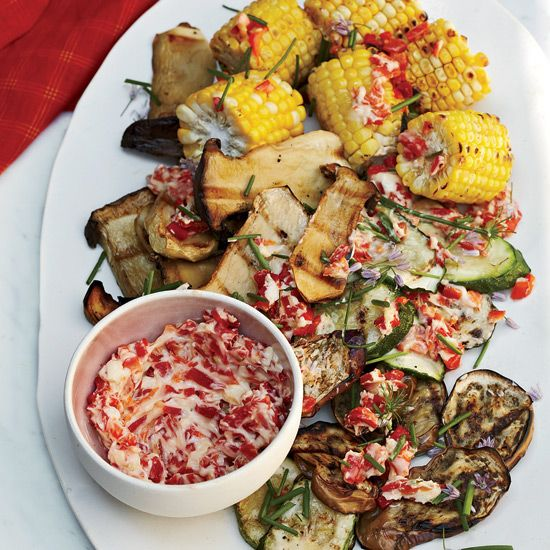 Grilled Vegetables with Roasted-Chile Butter // More Tasty Grilled Vegetables: www.foodandwine.c... #foodandwine