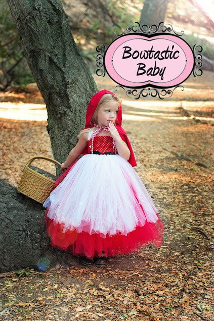 Little Red Riding Hood Themed Halloween Tutu.  All Halloween costumes available on Etsy, $45.00