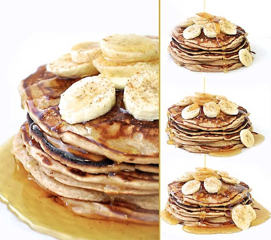 Old Fashioned Pancakes... made with Greek yogurt!
