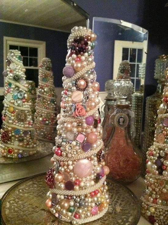 Handmade Vintage Jewelry Tree