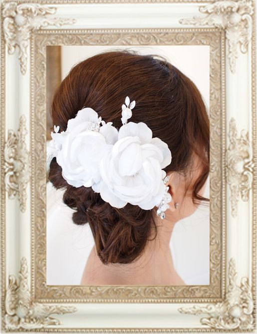 Bridal Hair Accessory - Gardenia Bridal