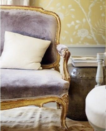 from Little Blue Deer. LOVE the Lavender & Gold against the yellow!
