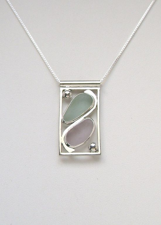 Sea Glass Jewelry  Sterling Pastel Sea Glass by SignetureLine, $135.00