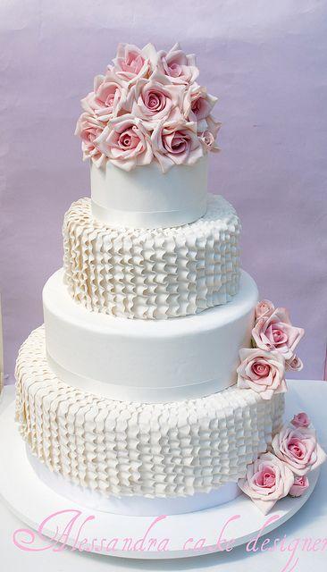 Wedding cake by Alessandra Cake Designer, via Flickr