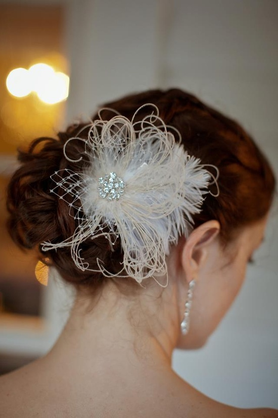 Bridal Hair , Hair Accessory, Flower in Hair, Updo , Formal hair  www.cayladoeshair...