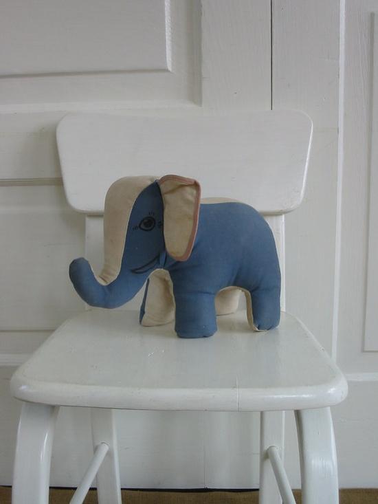 Toy Elephant Stuffed Animal Vintage Plush Circus by vintagejane, $34.00