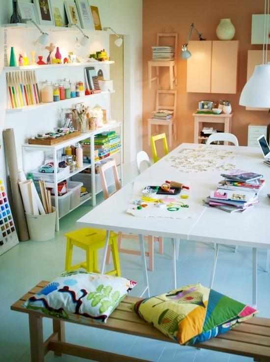 School room/craft area