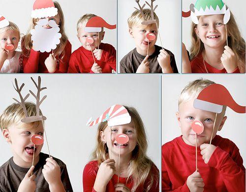 Christmas craft - photo booth props...so so fun!
