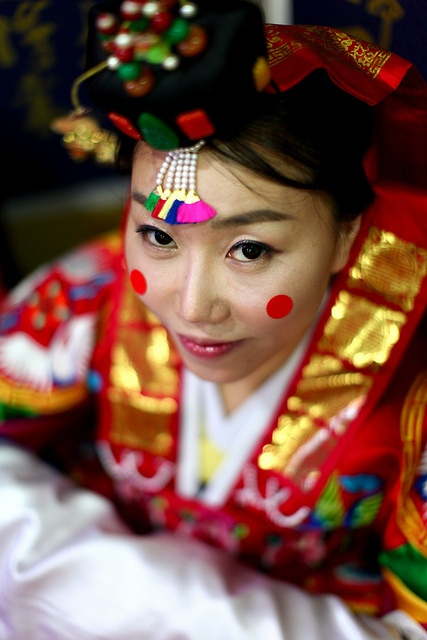 .The traditional Korean bride.