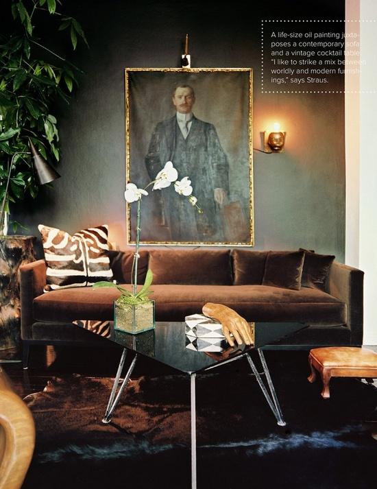 Living room designed by Adam Straus