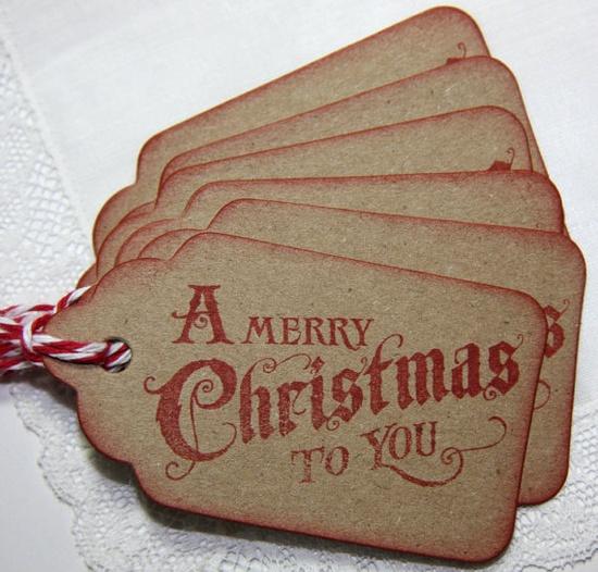 Vintage Christmas gift tags.