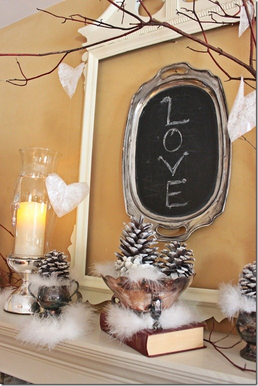 use old silver tray, cover with chalkboard paint and use as decoration for holidays (for xmas it could say JOY?)