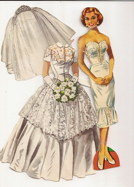wedding paper dolls