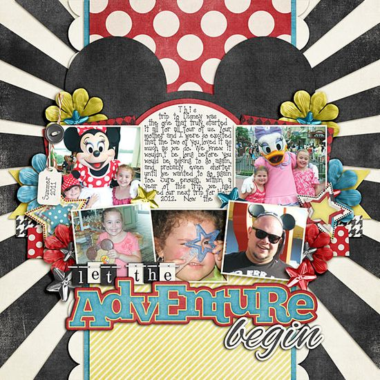 .Love this Disney scrapbook layout idea!