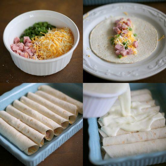 Ham and Cheese Breakfast Enchiladas