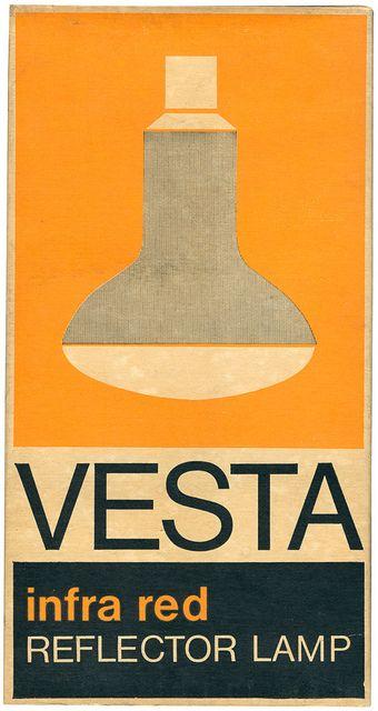 vesta infra red reflector lamp packaging by maraid, via Flickr