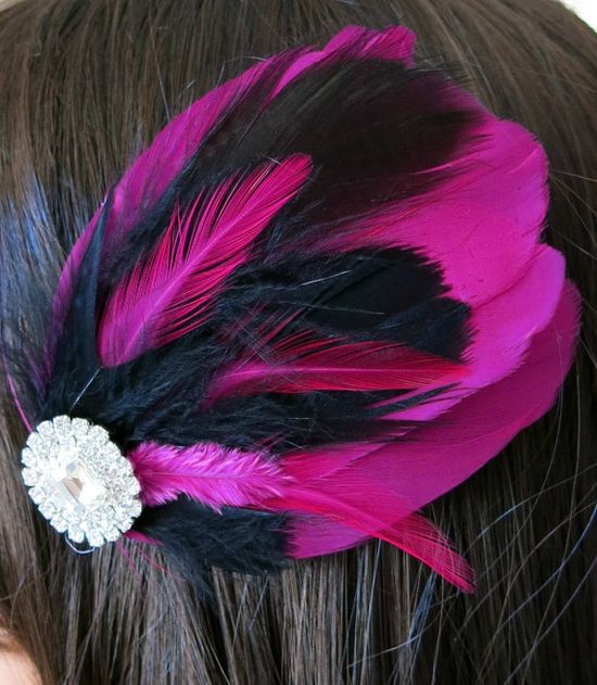 Gatsby Wedding Bridesmaids Feather Hair Accessory by parfaitplumes, $22.00