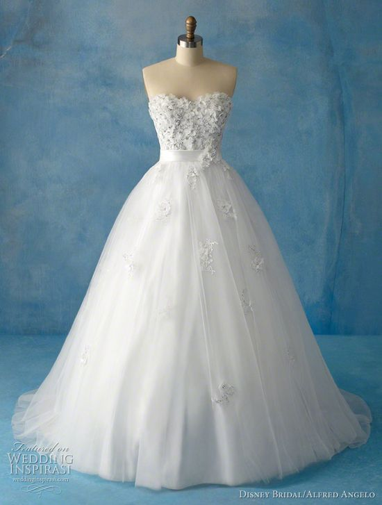Snow White-- tried this dress on once :) More of a spring wedding dress