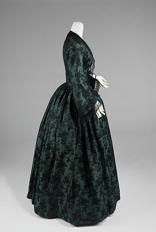 Evening dress. Date: 1850–55 Culture: American Medium: silk