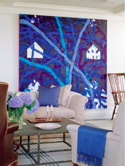 big, bold, and #blue...decorating with art