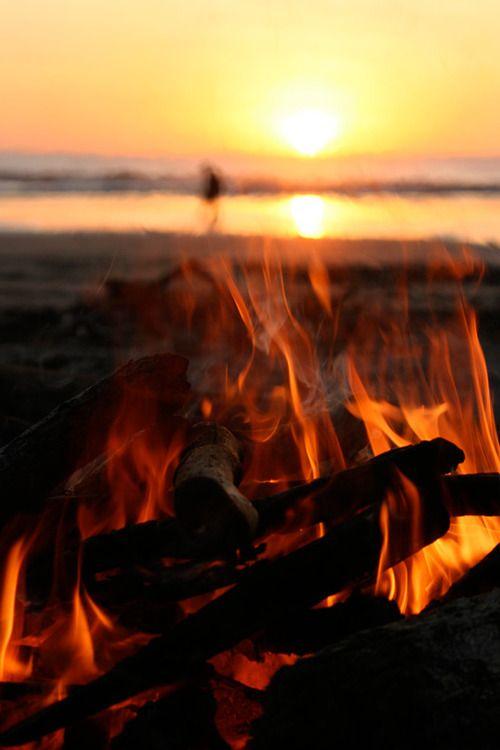 beach fire.