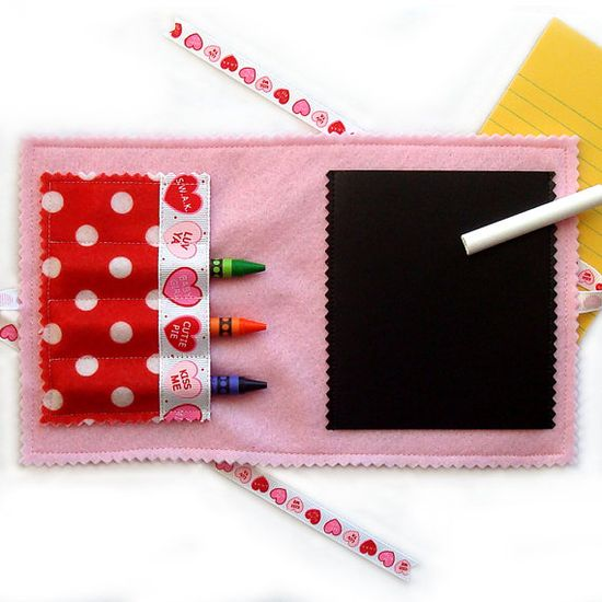Take A Long Crayon Wallet & Chalkboard Mat