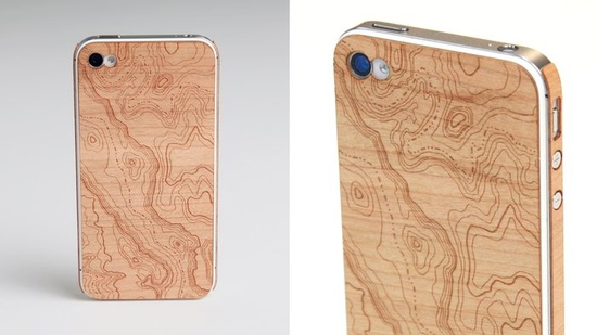 * wooden iphone skin