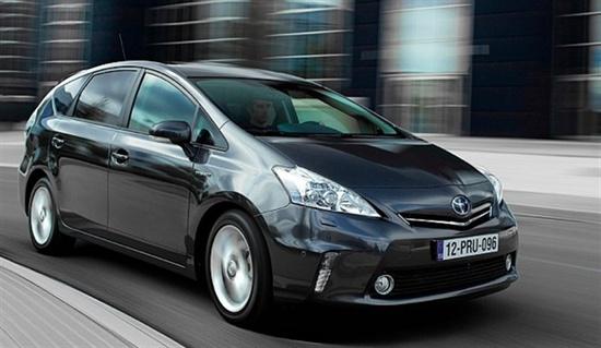 Extremely popular hybrid car Toyota Prius V