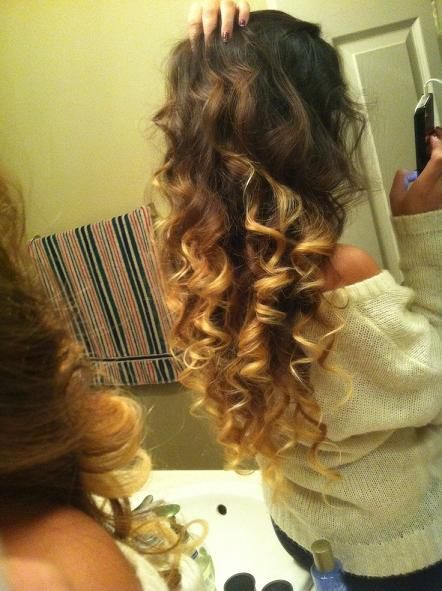 Curly hair ombre; possible new color