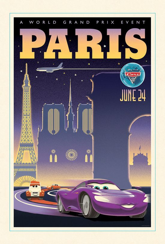 #inspirationV2020m12  Cars 2 vintage poster