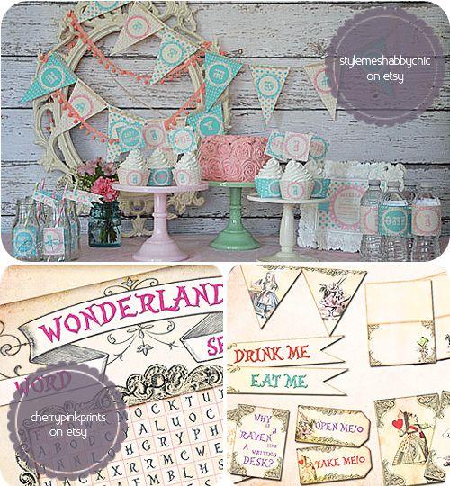 Alice in Wonderland Party accessories