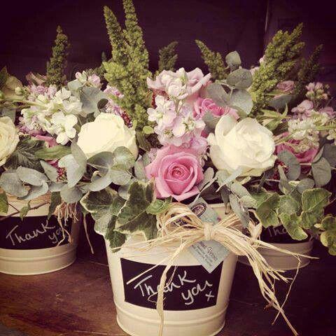 Rustic flower arrangement