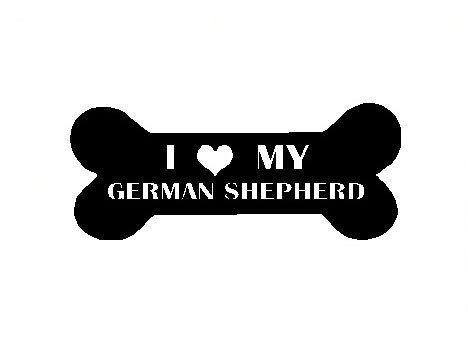 I Love My German Shepherd Decal Cute Pet Window by DressXpress, $3.49