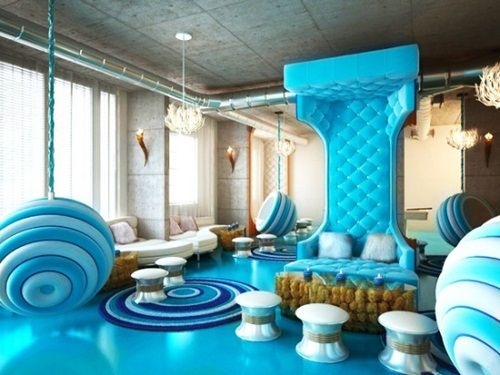 Post modern hotel interior design
