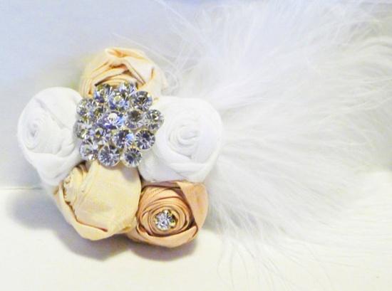 Luxe Georgette Bridal Hair Flower, Fascinator