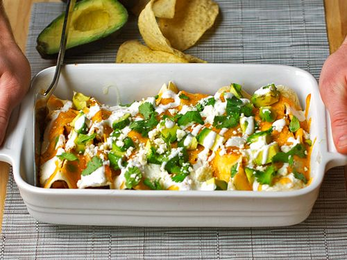 skinny chicken enchiladas