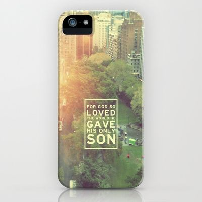 "John 3:16 ""For God so loved the world"" (Version 2) iPhone Case by Pocket Fuel - $35.00"