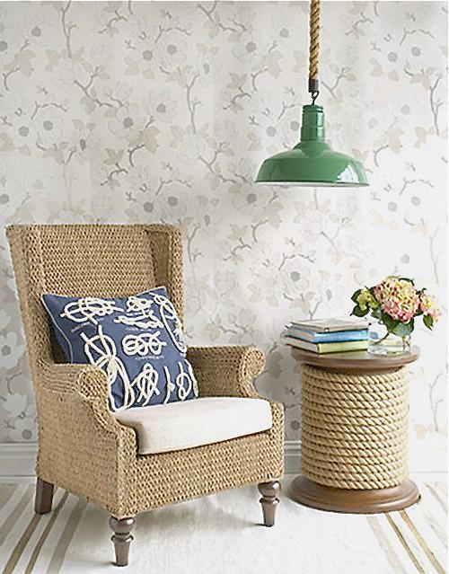 Beautiful Vintage Living Room Design : Minimalist  Wicker Furniture Vintage Living Room Design Ideas